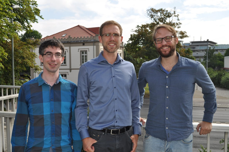 Die Gründer Stefan Baur, Malte Rojahn und Pascal Ludwig (von links)