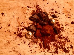 Trüffelpralinen mit Schokolade